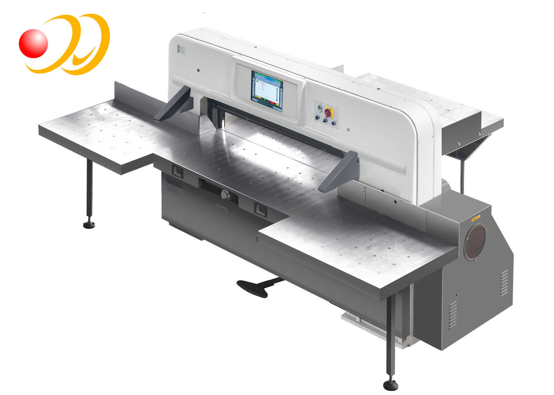 Programmed Hydraulic Paper Cutting Machine , Automatic Paper Cutter With Touch Screen