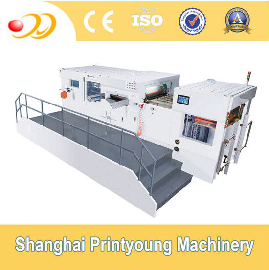 Automatic Flat Bed Die Cutting Machine For Cardboard Boxes White Board